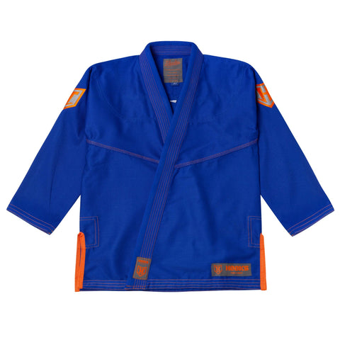 Hooks Prolight BJJ Gi - Blue w/ Grey & Orange - Limited Edition