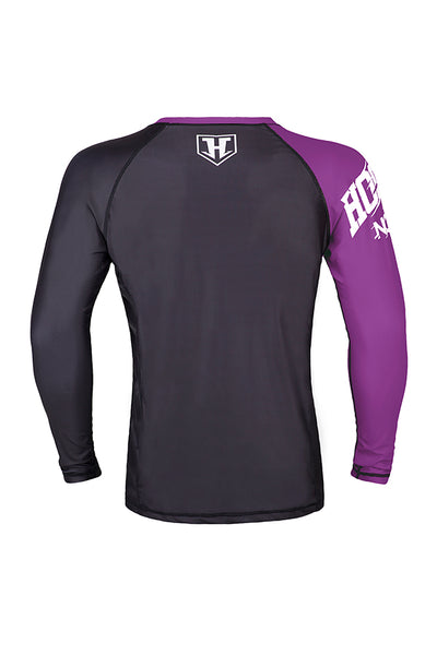 Hooks Male Rank Rashguard - Purple