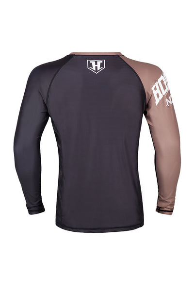 Hooks Male Rank Rashguard - Brown