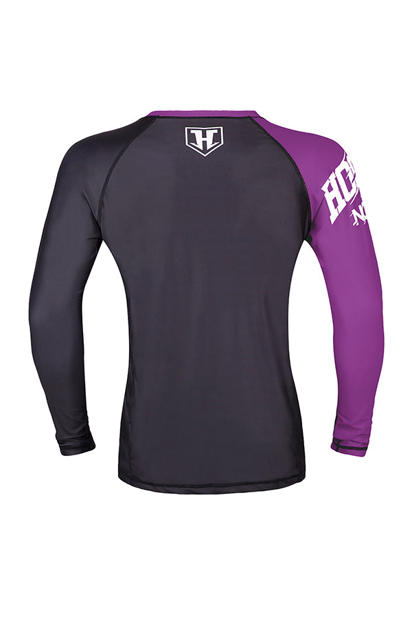 Hooks Female Rank Rashguard - Purple
