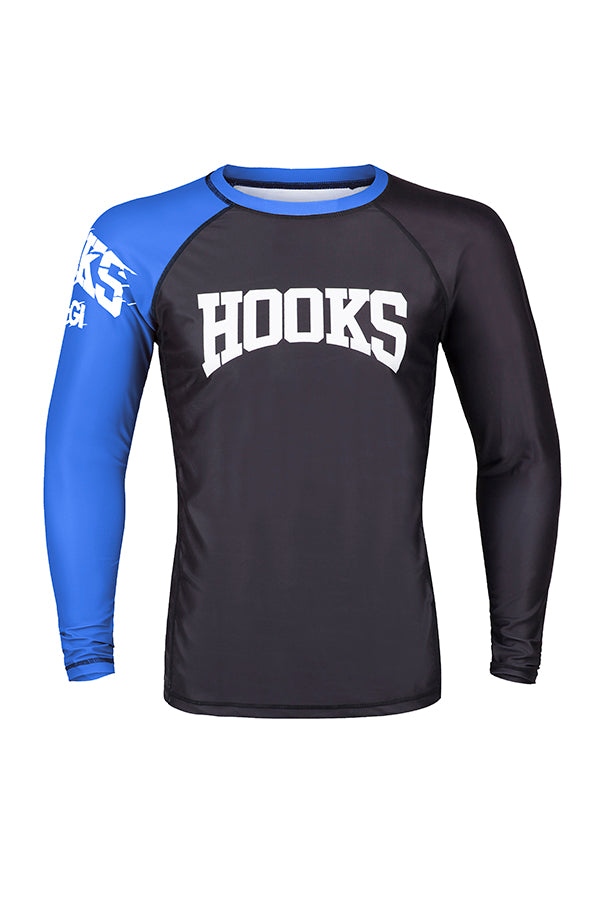 Hooks Male Rank Rashguard - Blue