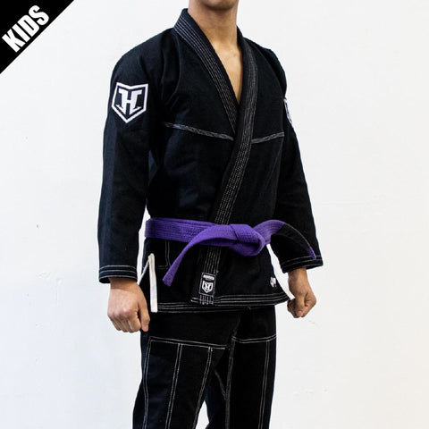 Kids Prolight BJJ Gi - Black w/ White includes Belt