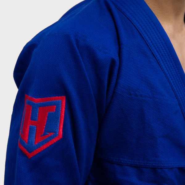 Hooks Prolight BJJ Gi - Blue w/ Red