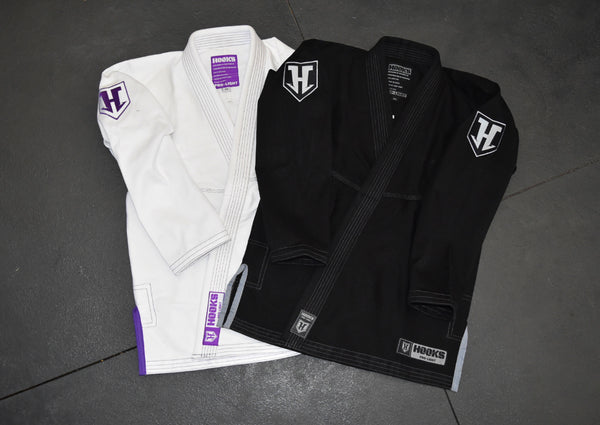 Hooks Prolight BJJ Gi - Black w/ Silver