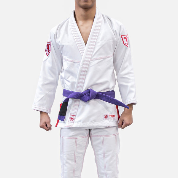 Hooks Prolight BJJ Gi - White w/ Red - Limited Edition