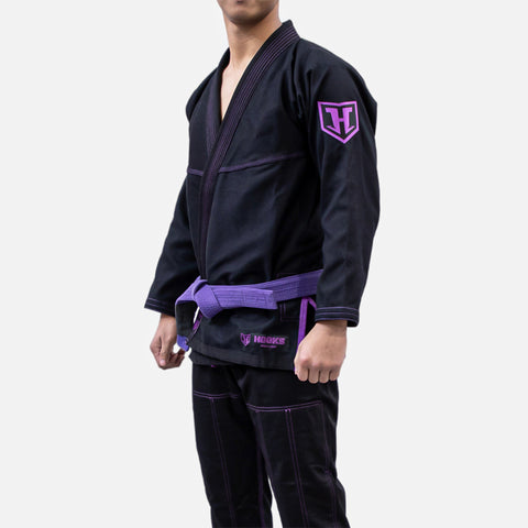 Hooks Prolight BJJ Gi - Black w/ Purple - Limited Edition