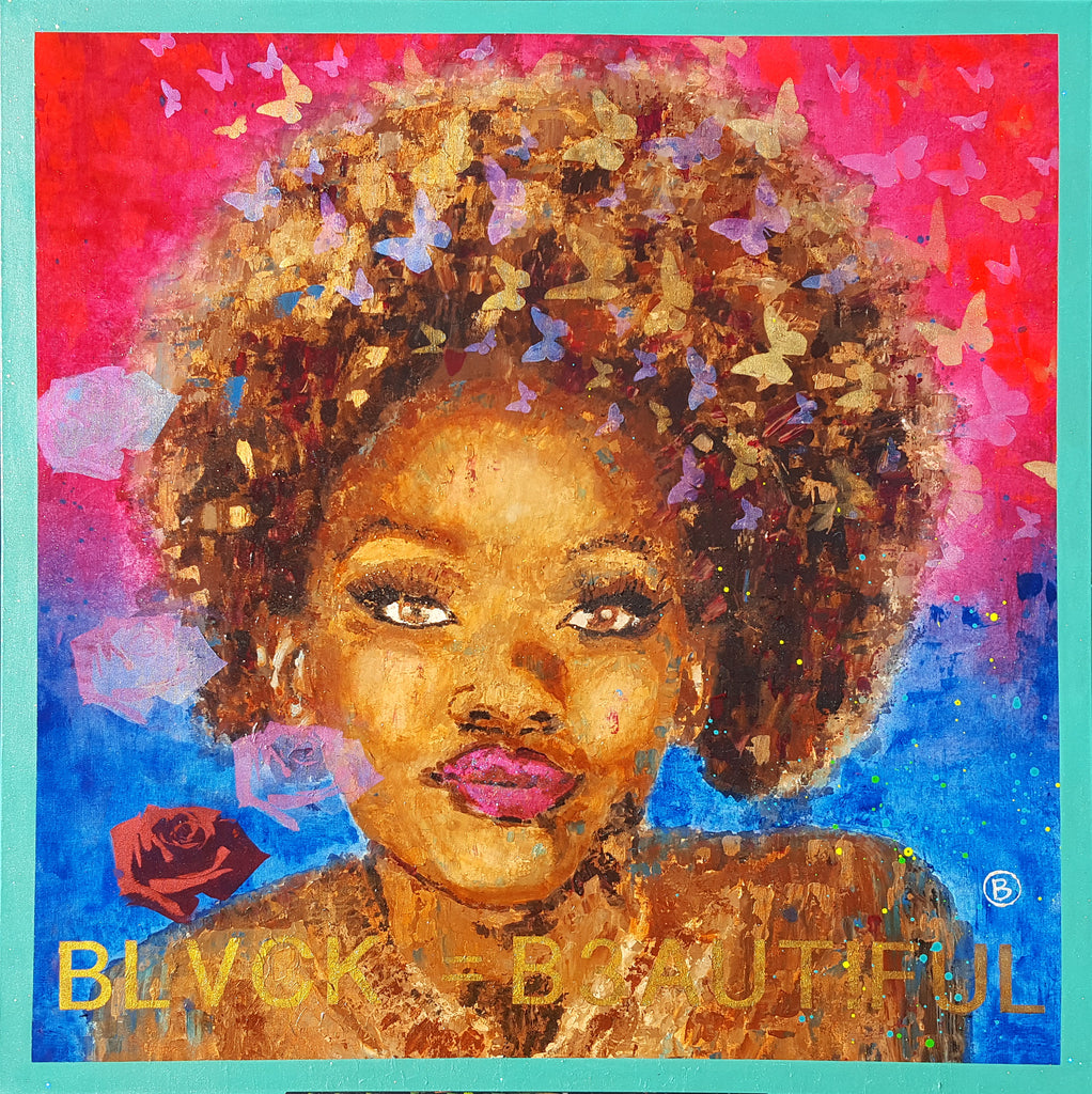 Queen African American Beauty Inspired Artwork Original Painting Wall Art by Artist Brandon Jameson