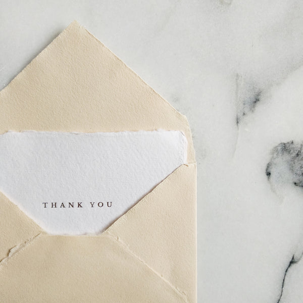 Thank You Note Card - Set of 5