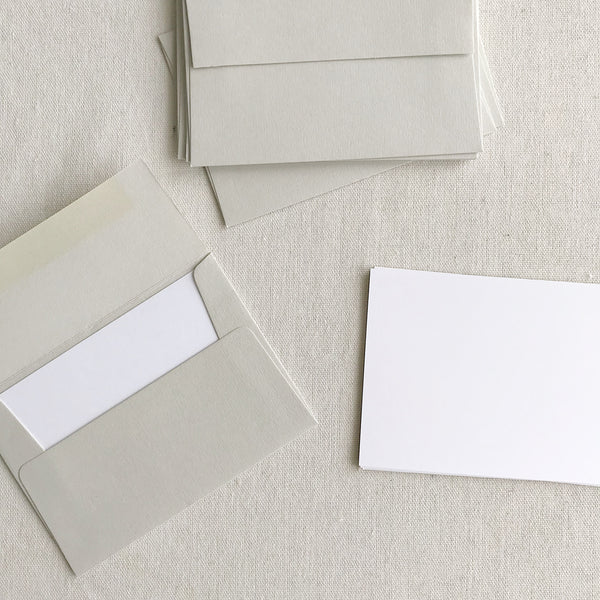 "3.5""x5"" Card + Envelope Set - Pale Grey"