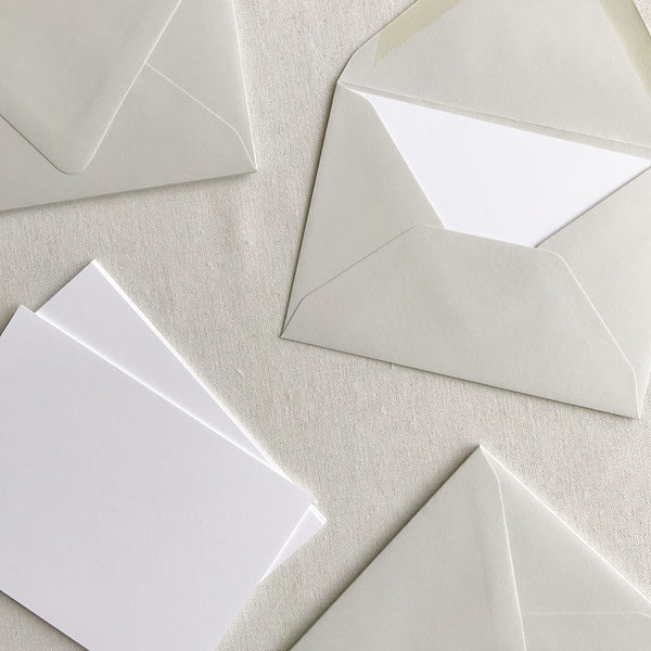 "5""x7"" Card + Envelope Set - Pale Grey"