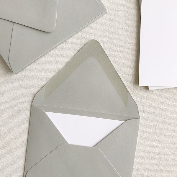 A2 Card + Envelope Set - Real Grey