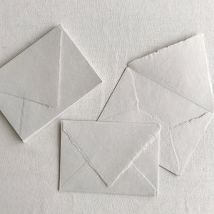 "Pressed Paper 5.5""x7.5"" Envelopes - Pale Grey"