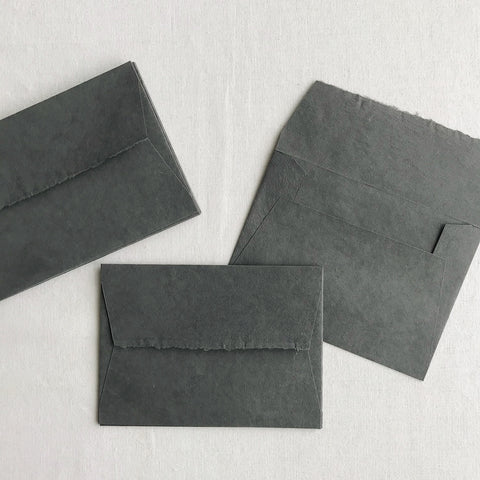 "SHare Studios 5.5""x7.5"" Envelopes - Charcoal Grey"