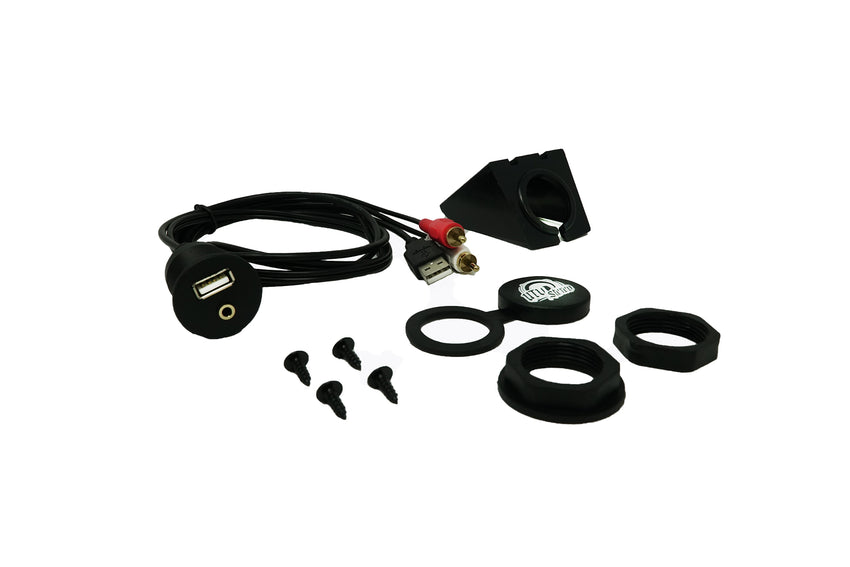 USB & Auxiliary Flush Mount Adapter for Rockford PMX Radios