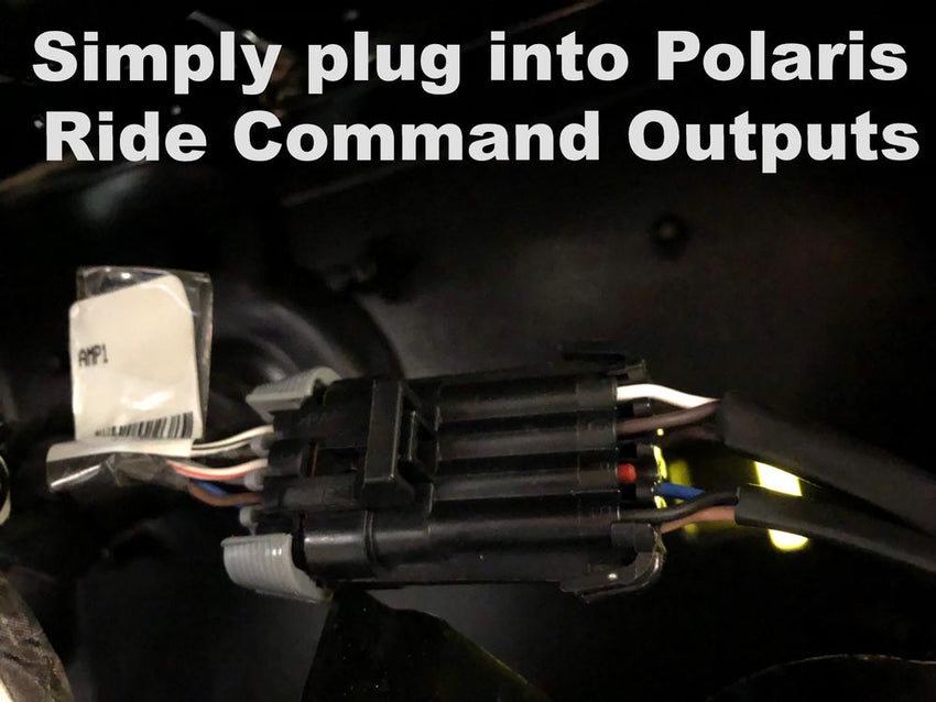 Polaris RZR Ride Command Harness with REGULATED! Remote Output