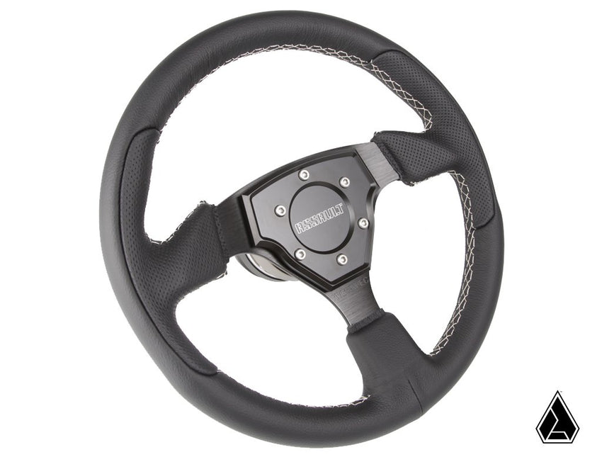 Assault Industries Tomahawk Steering Wheel with Genuine Leather (Universal)