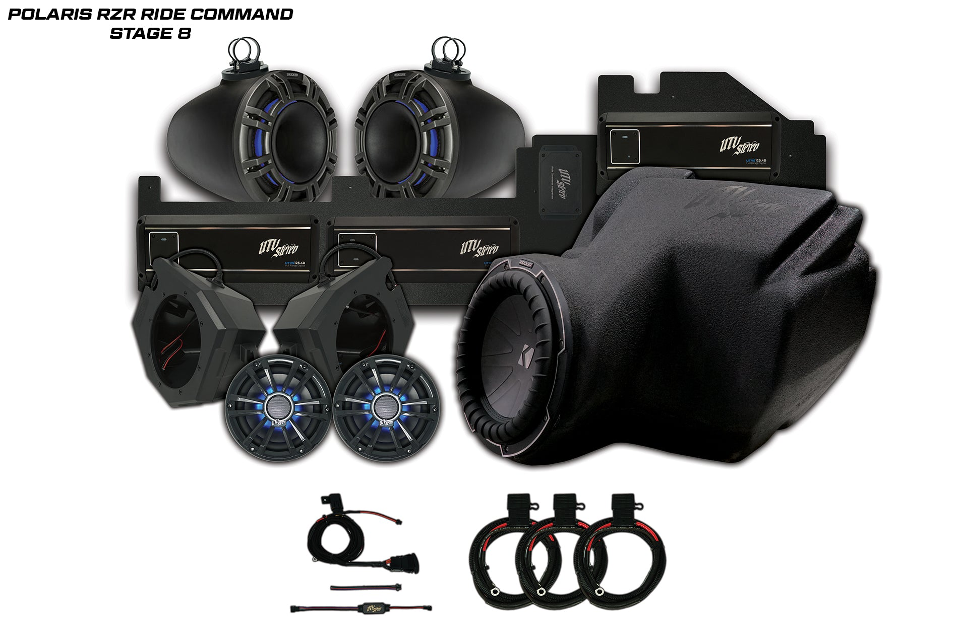 Polaris RZR Ride Command UTV Stereo Stage 8 Stereo System