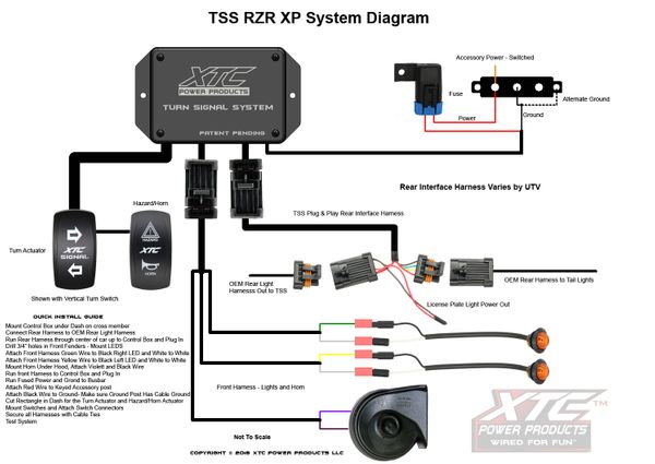 polaris rzr plug and play turn signal system uses factory tail lights includes horn fits 2 or 4 seat models universal turn signal switch wiring diagram polaris rzr column turn signal kit