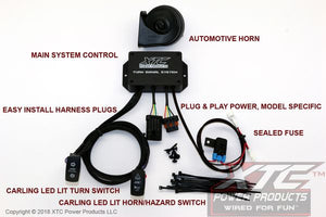 Polaris RZR Plug and Play Turn Signal System - Uses Factory Tail Lights - Includes Horn