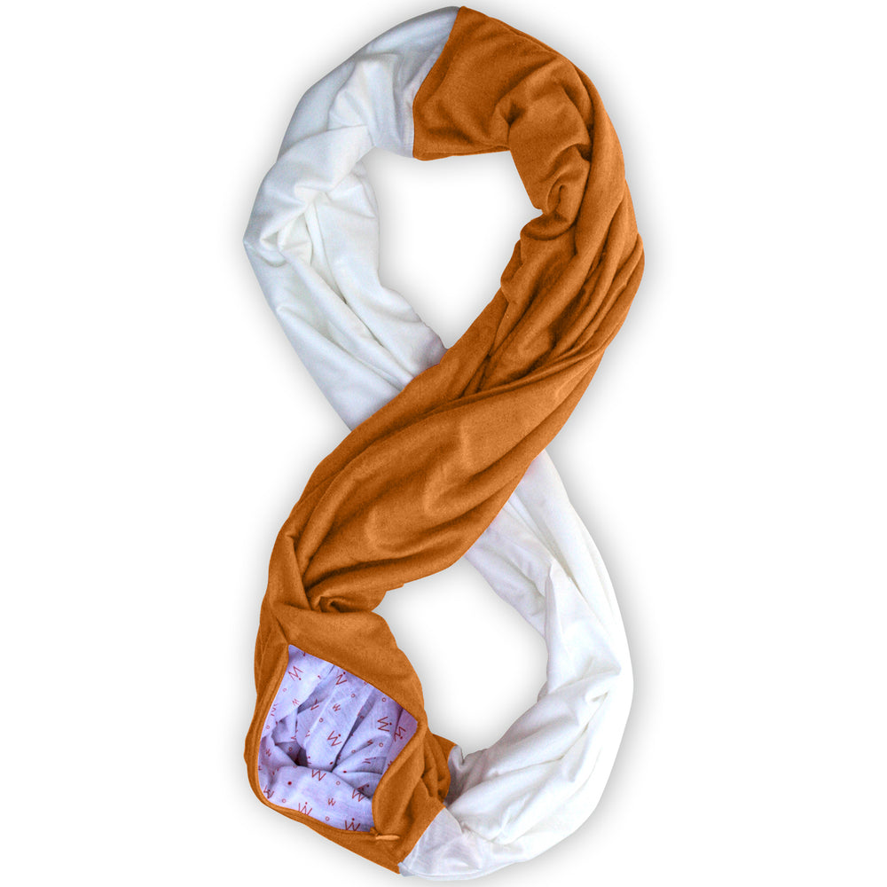 STADIUM Series Travel Scarf // Orange & White