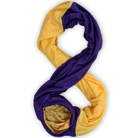 STADIUM Series Travel Scarf // Purple & Yellow