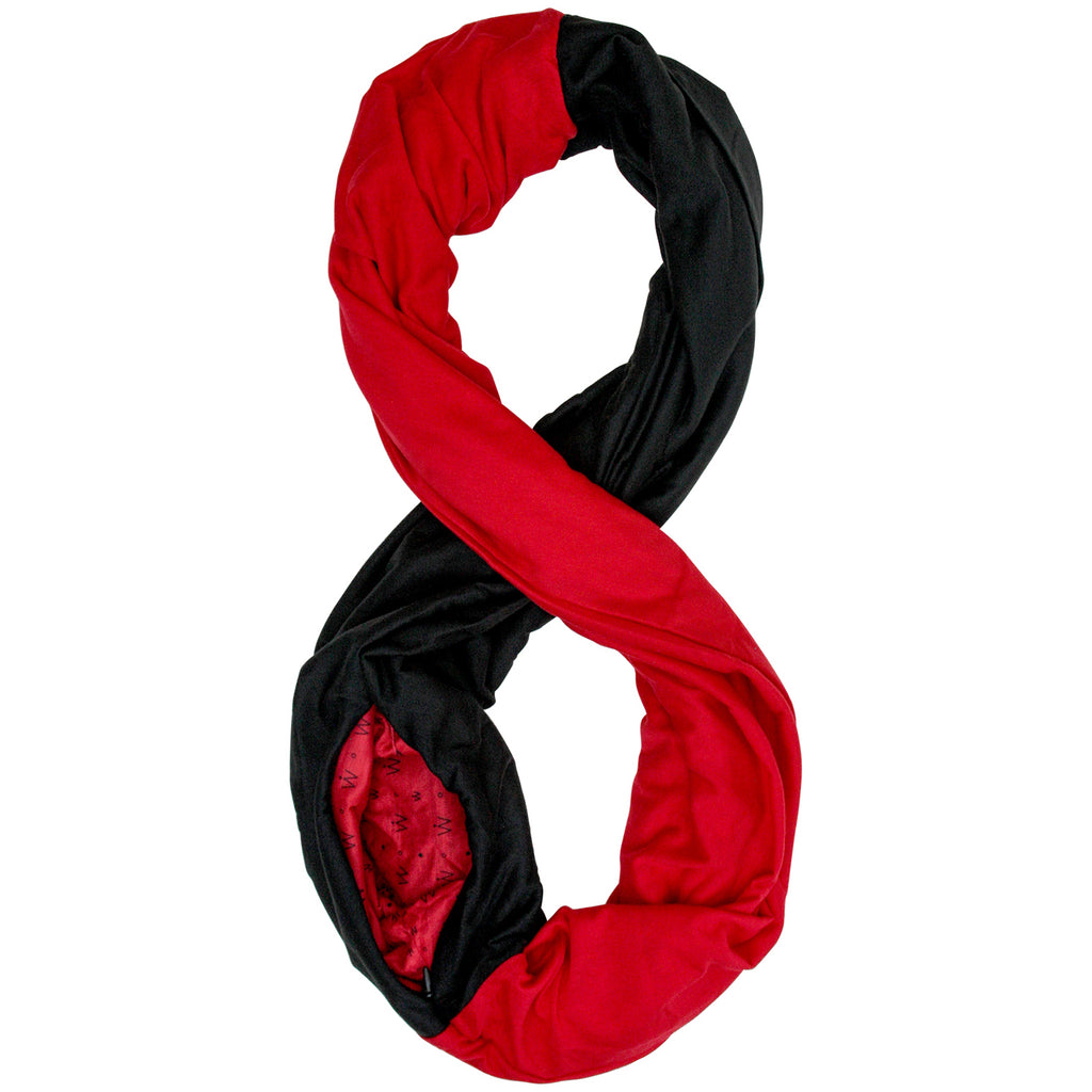 STADIUM Series Travel Scarf // Red & Black