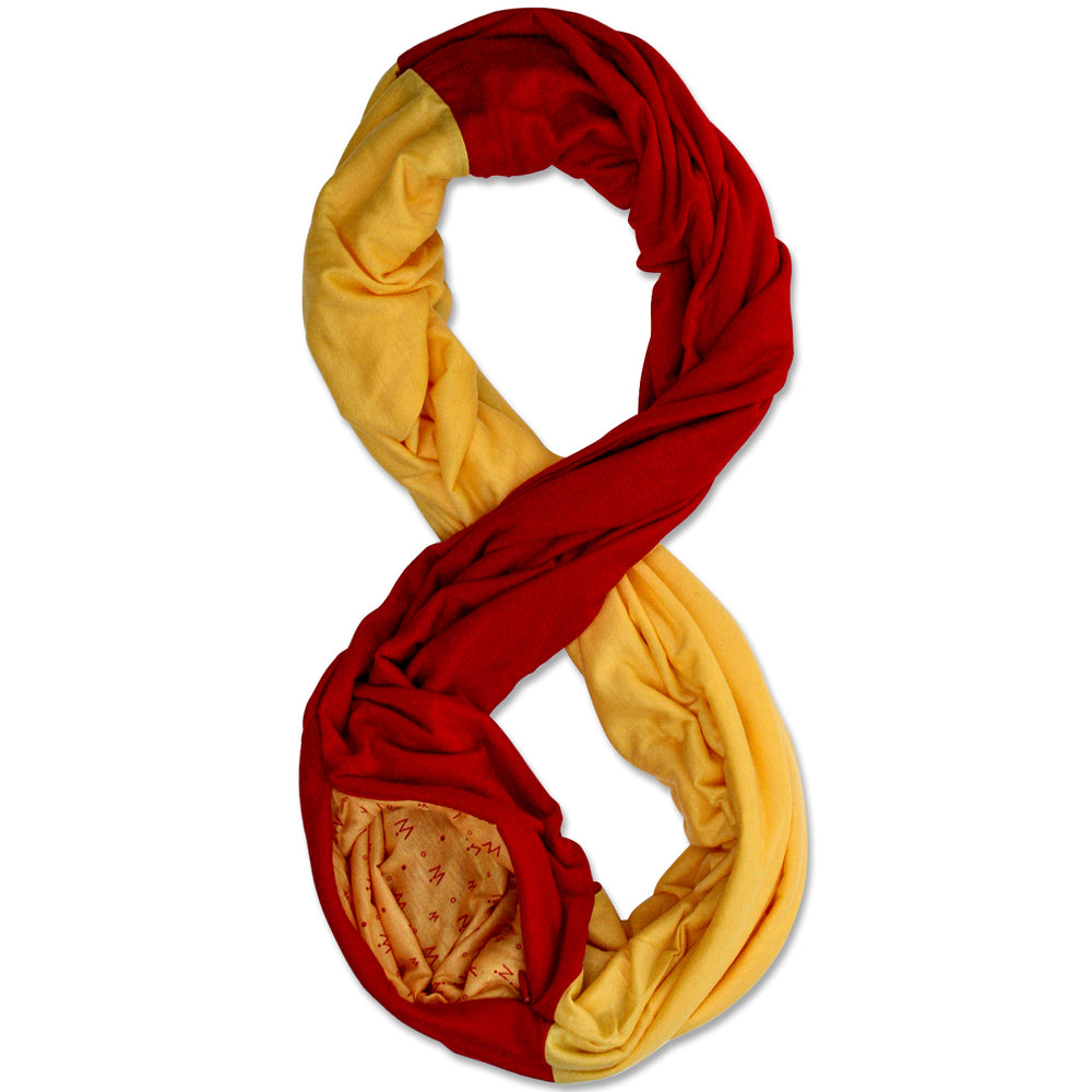 STADIUM Series Travel Scarf // Red & Yellow