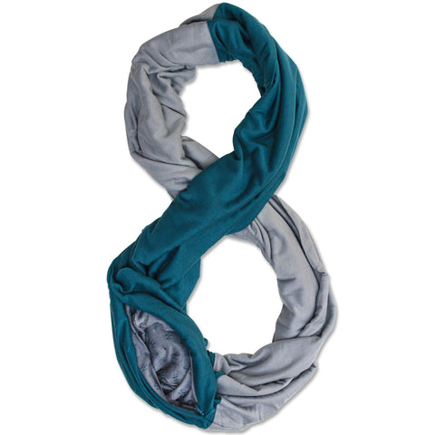 STADIUM Series Travel Scarf // Midnight Green & Grey