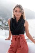TRAVEL SCARF // Onyx