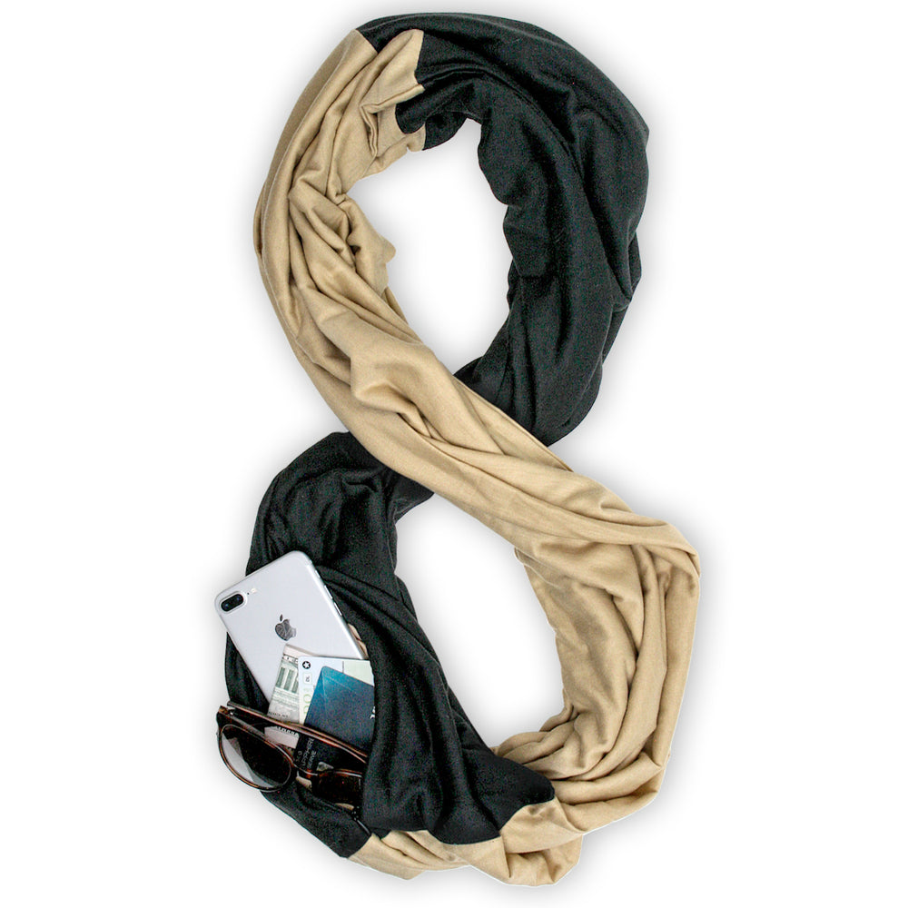 STADIUM Series Travel Scarf // Black & Gold
