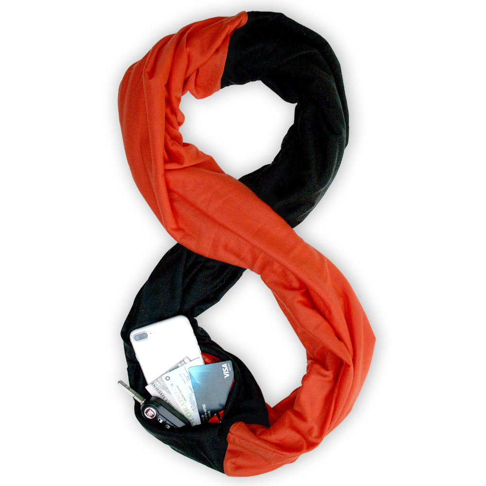 STADIUM Series Travel Scarf // Black & Orange
