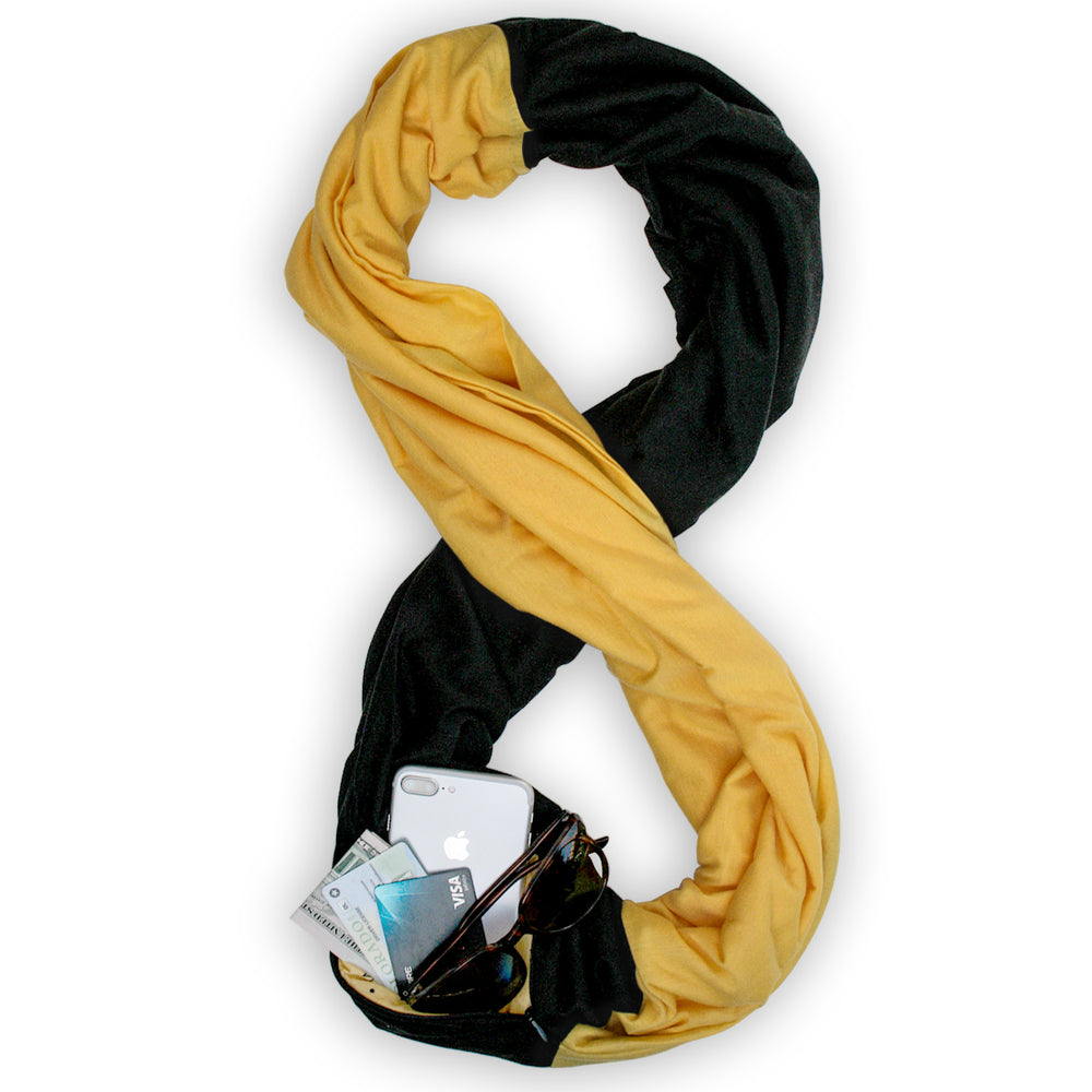 STADIUM Series Travel Scarf // Black & Yellow