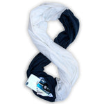 STADIUM Series Travel Scarf // Navy & White