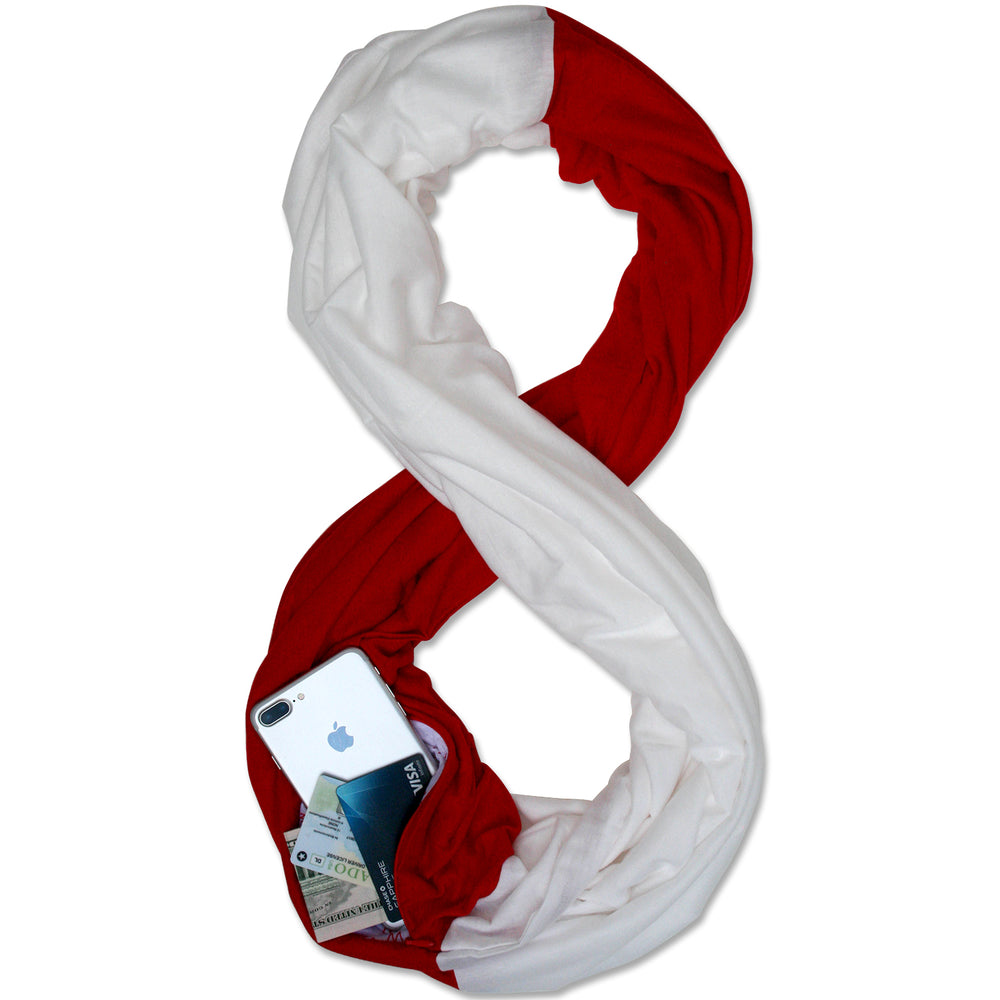 STADIUM Series Travel Scarf // Red & White