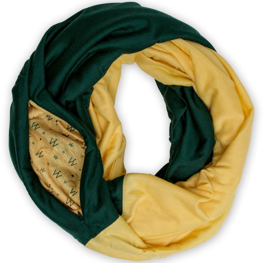 STADIUM Series Travel Scarf // Green & Yellow
