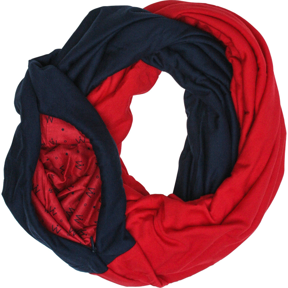 STADIUM Series Travel Scarf // Navy & Red