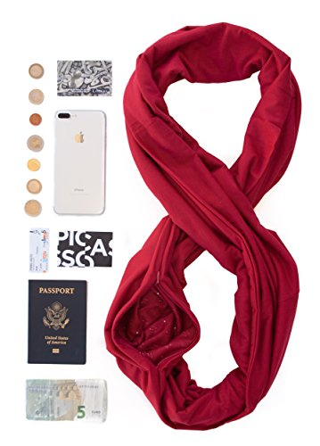 TRAVEL SCARF // Garnet