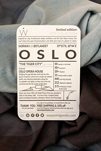 Limited Edition TRAVEL SCARF // City Series // Oslo