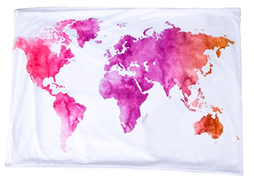 Limited Edition TRAVEL SCARF // Art Series // Watercolor World Map