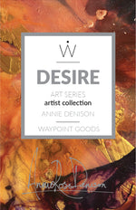 Limited Edition TRAVEL SCARF // Featured Artist Series - Annie Denison // Desire