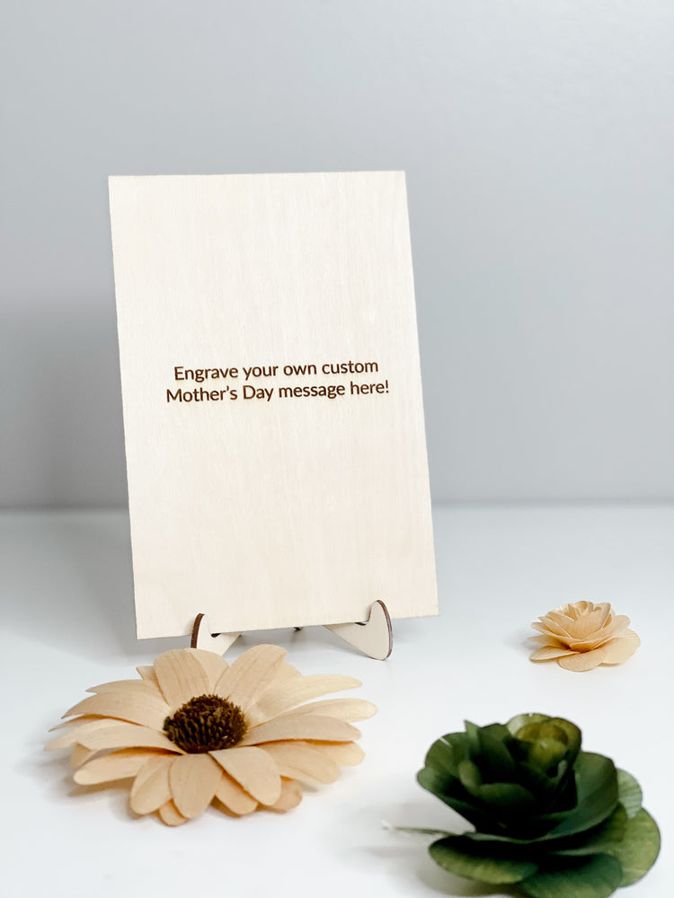 Mother's Day Card // Happy Mother's Day + Flower