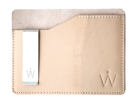 Passport Wallet // Natural Vegetable Tanned Leather
