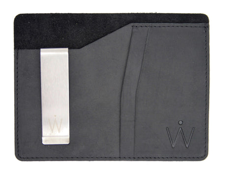 Passport Wallet // Black Crazy Horse Leather