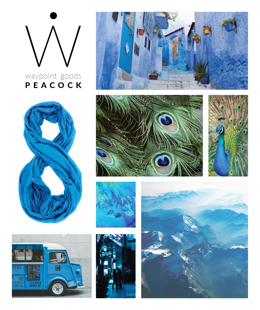 TRAVEL SCARF // Peacock