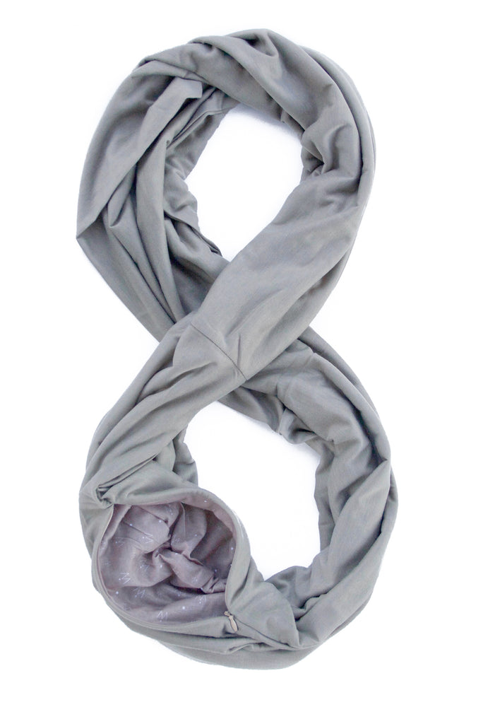 TRAVEL SCARF // Pewter