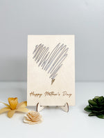Mother's Day Card // Happy Mother's Day + Scribble Heart