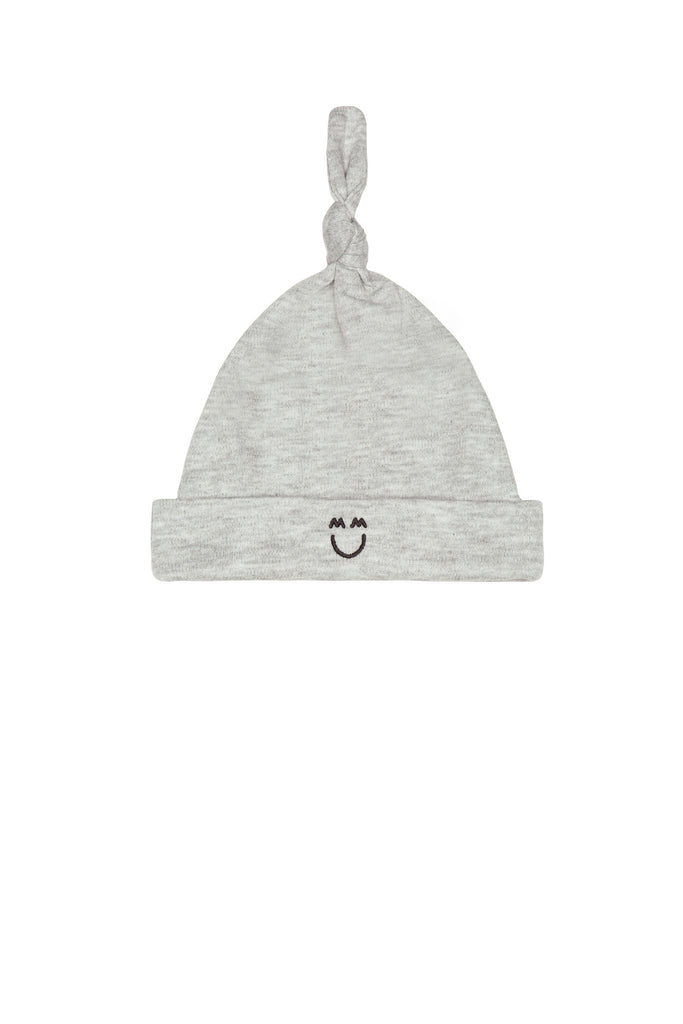 Knotted Cap, Bodysuit, and Romper Cozy Set