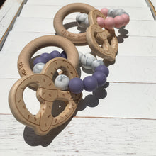 PRETZEL - BPA Free, Non-Toxic, Food Grade Silicone and Beech Wood Rattle