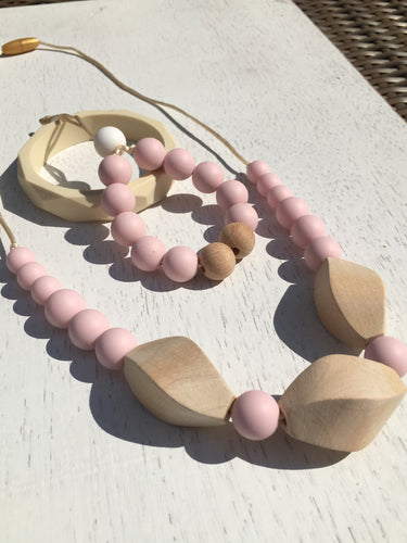 STELLA  - Beech Wood and BPA Free, Non Toxic, Food Grade Silicone Beads