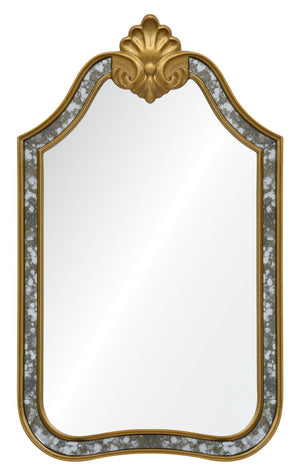 Gold leaf distressed mirror